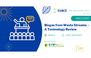 Biogas from Waste Streams – A Technology Review, 28 April 2021