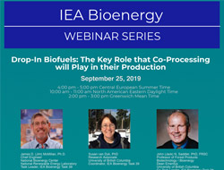 "IEA Bioenergy International Webinar ""Drop-In Biofuels: The Key Role that Co-Processing will Play in their Production"" - 25th September 2019"